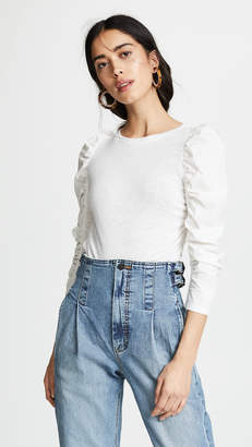 Rebecca Taylor Long Sleeve Cotton Pop Tee