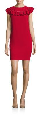 Trina Turk Ruffled Sheath Dress $268 thestylecure.com