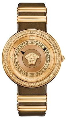 Versace Women's Icon Leather Strap Watch, 40mm