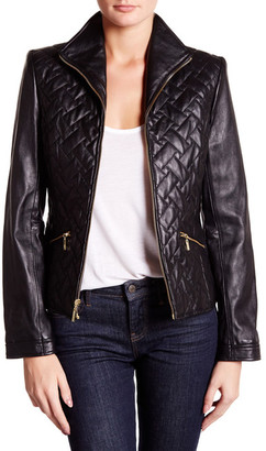 Cole Haan Zip Front Genuine Leather Jacket $500 thestylecure.com