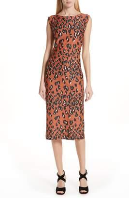 Rachel Comey Medina Leopard Print Sheath Dress