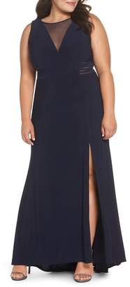 Morgan & Co. Power Mesh Illusion Knit Dress
