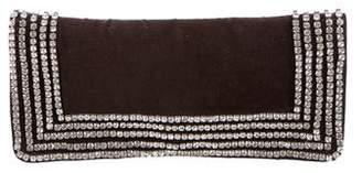 Tory Burch Jewel-Embellished Velvet Clutch