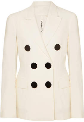 Petar Petrov Double-breasted Crepe Blazer - Ivory