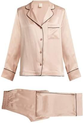 6a4b22e1f5 Morpho + Luna - Colette Silk Pyjamas - Womens - Dark Pink