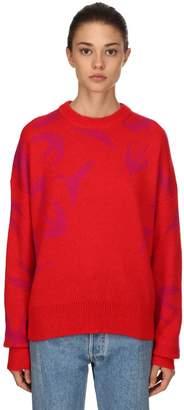 McQ Oversize Wool Blend Jacquard Sweater