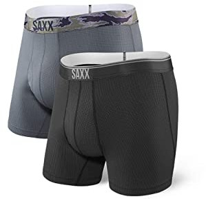 Saxx UNDERWEAR Quest Boxer Brief Fly 2-Pack