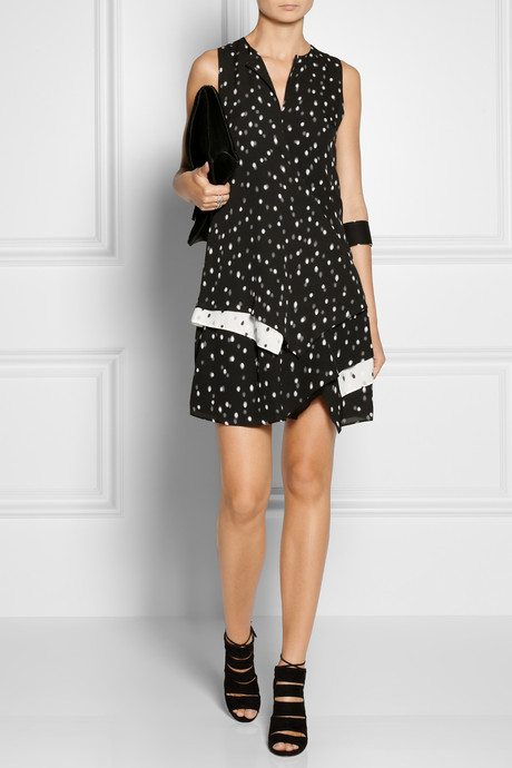 Proenza Schouler Printed silk-georgette dress