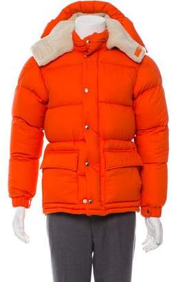 Moncler Cousteau Shearling Down Jacket