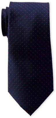 MICHAEL Michael Kors Navy & Red Aaron Dotted Silk Tie