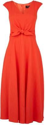 Paule Ka Crepe Bow Dress