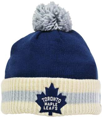 Reebok CCM Stripe Cuffed Pom Knit Toque - Toronto Maple Leafs