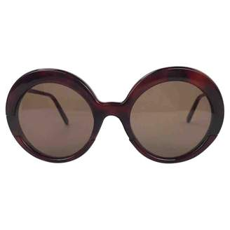 Marni Brown Plastic Sunglasses