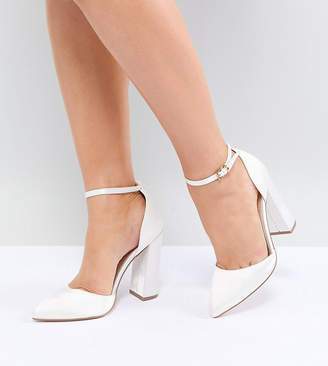Asos Design Pebble Wide Fit Bridal Pointed High Heels