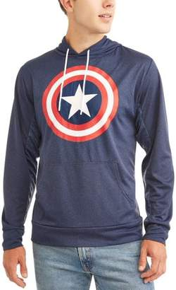 Super Heroes Men's Long Sleeve Captain America Pullover