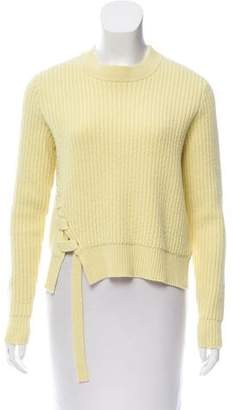 Proenza Schouler Lace-Up Wool Sweater