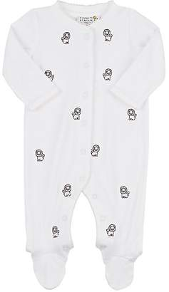 Barneys New York Infants' Embroidered Cotton Coverall - Pink