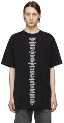 Vetements Black Transalation T-Shirt