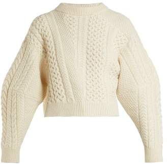 Stella McCartney Cable Knit Wool Blend Sweater - Womens - Cream