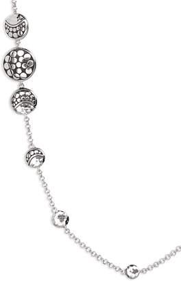 John Hardy Dot Hammered Silver Necklace