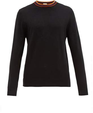 Paul Smith Artist Stripe Merino Wool Sweater - Mens - Black