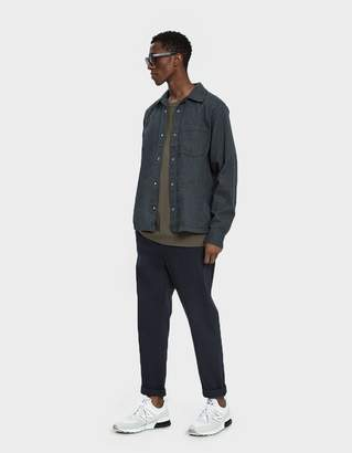 Acne Studios Button Up Flannel Shirt in Carbon Grey