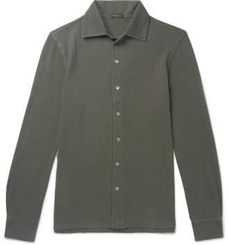 Rubinacci Slim-Fit Cutaway-Collar Cotton-Piqué Shirt