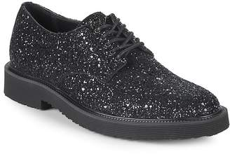 Giuseppe Zanotti Men's Leather Glitter Derby Shoes