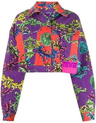 Versace baroque print denim jacket