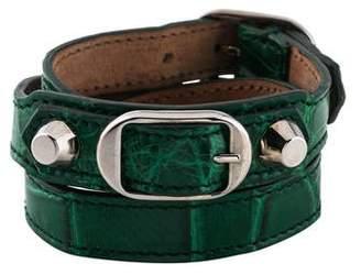 Balenciaga Alligator Triple Tour Wrap Bracelet