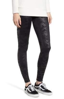 Spanx R) High Waist Camo Faux Leather Leggings