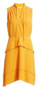 Derek Lam 10 Crosby Women's Tiered Skirt Chiffon Dress - Saffron - Size 2