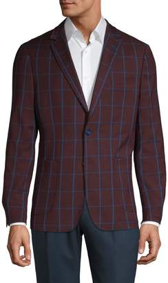 Sondergaard Slim Fit Grid Print Suit Jacket