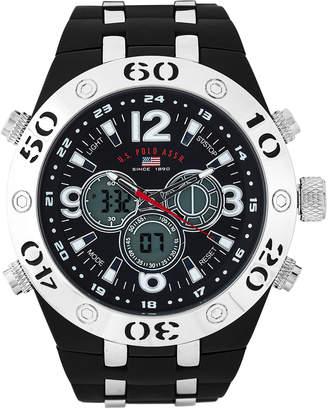 U.S. Polo Assn. US9504 Black Analog & Digital Chronograph Watch