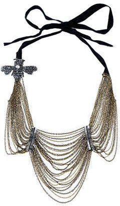 Vera Wang Embellished Layered Chain Necklace $325 thestylecure.com