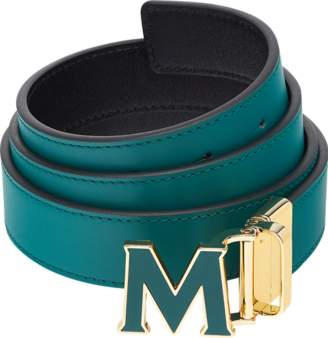 "MCM Claus Enamel M Reversible Belt 1.2"" In Leather"