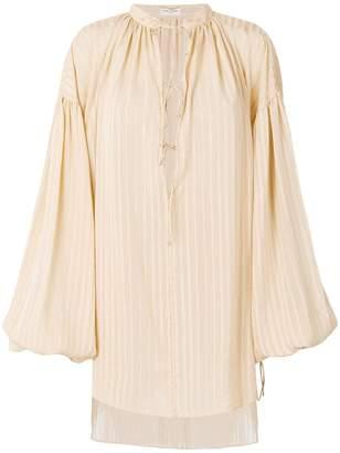 Saint Laurent oversized plunge neck tunic