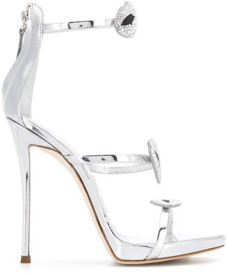 Giuseppe Zanotti Design embellished lips stiletto sandals