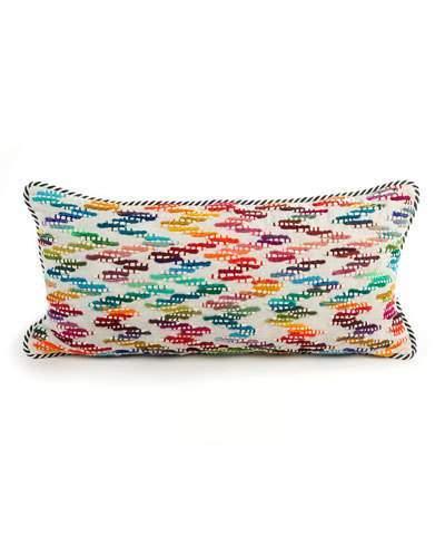 MacKenzie-Childs Zigzag Lumbar Pillow