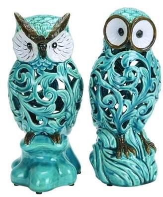 Benzara 2-Pc Decorative Owl Figurine Set