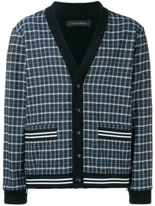 Christian Pellizzari checked buttoned sweatshirt