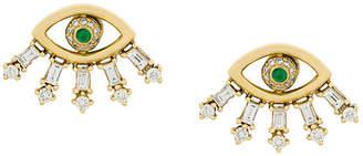 Ileana Makri Baguette Eye stud earrings