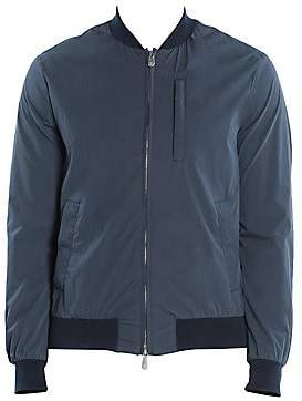 Eleventy Men's Water-Resistant Cotton Bomber Jacket
