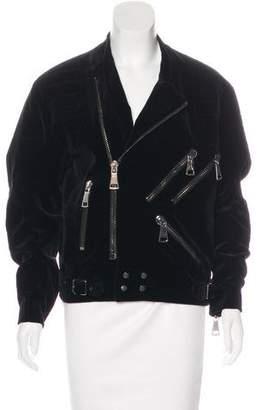 Christopher Kane Velvet Moto Jacket