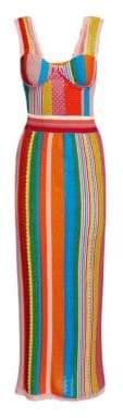Moschino Multi Stripe Knit Dress