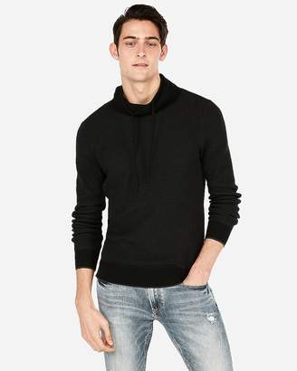 Express Textured Funnel Neck Sweater