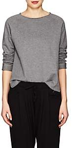 Helmut Lang WOMEN'S COTTON FRENCH TERRY SWEATSHIRT - GRAY SIZE XS