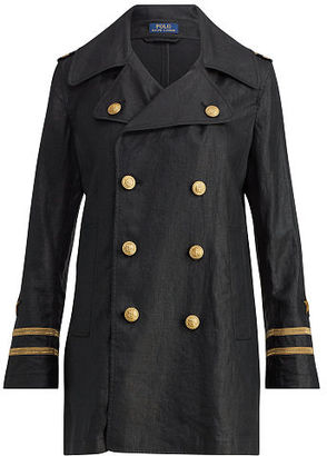 Polo Ralph Lauren Double-Breasted Linen Coat $398 thestylecure.com