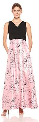 Sangria Women's Floral Sateen Gown