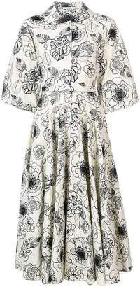 Co flared print dress
